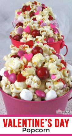 Valentine's Day Popcorn - Valentine's Day Popcorn – a fun Valentine's Day treat. Sweet, salty, crunchy and delicious an - Valentines Day Food, Valentines Day Background, Valentines Day Desserts, Valentines Day Activities, Valentine Party, Valentinstag Party, Popcorn Theme, Valentine's Day Poster, Muffin Tin Recipes