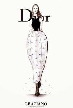 GRACIANO fashion illustration: DIOR SPRING 2015 #PFW| Be Inspirational ❥|Mz. Manerz: Being well dressed is a beautiful form of confidence, happiness & politeness