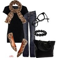 great casual outfits cheetah scarf - errrh
