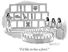 "Premium Giclee Print: ""I'd like to buy a fowl."" - New Yorker Cartoon by Liam Walsh : Writing Humor, Art Jokes, Cartoon Photo, New Yorker Cartoons, Word Nerd, Wheel Of Fortune, Teacher Humor, Art For Sale, Bracelets"