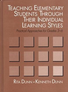 Teaching Elementary Students Through Their Individual Learning Styles: Practical Approaches for Grades 3-6 by Rita Dunn http://www.amazon.com/dp/0205132219/ref=cm_sw_r_pi_dp_BNV.tb1BWJ7MG