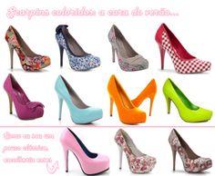 dicas de sapatos scarpin coloridos