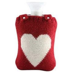 Large I-Heart hot water bottle warmer made from baby alpaca and includes FASHY hot water bottle Bottle Warmer, Baby Alpaca, Home Remedies, Home Accessories, Christmas Stockings, My Heart, Knit Crochet, Sweet Home, Bottle Cover