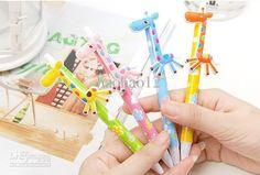 Wholesale C229 Special cute giraffe of the Korean stationery ballpoint pen cartoon pen, Free shipping, $0.48-0.59/Piece | DHgate