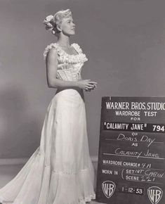 Wardrobe test shot for Calamity Jane.
