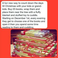 Advent: Open a book each day. Great idea.