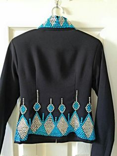 Black jacket with turquoise & silver bing 2 of 4