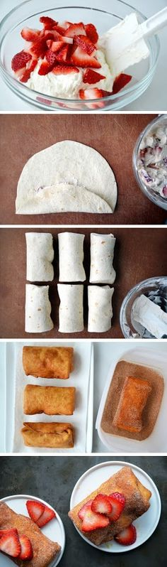 Strawberry Cheesecake Chimichangas!