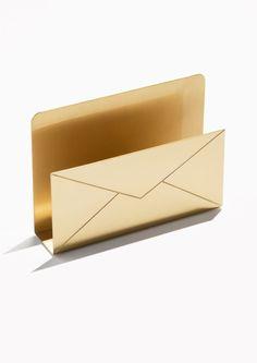 & Other Stories Envelope Paper Holder in Gold