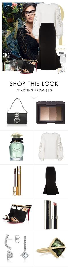 """Nothing about it"" by eleonoragocevska ❤ liked on Polyvore featuring Dolce&Gabbana, Fendi, NARS Cosmetics, Oscar de la Renta, Yves Saint Laurent, Victoria Beckham, Christian Louboutin, Chanel, Sergio Rossi and Blue Nile"