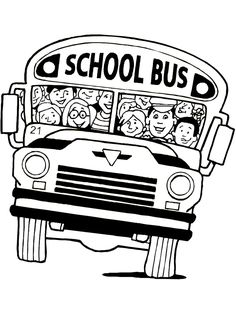 back to school coloring page school bus