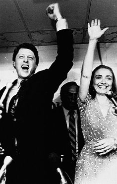 Hillary and former Gov. Bill Clinton celebrate his victory in the Democratic runoff in June 1982 in Little Rock, Ark. Clinton defeated former Lt. Hillary Rodham Clinton, Bill And Hillary Clinton, Young Bill Clinton, Photo Star, Interview, People Of Interest, Famous Couples, American Presidents, American History
