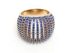 Merola Latelita Ring in Blue - Ataliablr - Rings - Jewellery - by Merola - From The Merola Collection   Rose Gold Plated Sterling Silver Devine