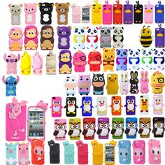 Hot 3D Cartoon Animals Soft Silicon Case Cover For Apple iPhone 5 5S 5C