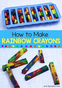 How to Melt Crayons in the Microwave to Make DIY Rainbow Crayons. Perfect for home or school. Preschoolers and kindergarten kids will love these DIY crayons!