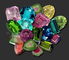 The name Tourmaline comes from the Sinhalese (Sri Lanka) word tura mali which translates as the stone of mixed colors. These stones are 7 - 7.5 on the Mohs' scale of hardness. Tourmalines are mined everywhere in the world including Afghanistan, Africa, Australia, Brazil, Kenya, Madagascar, Mozambique, Nigeria, Pakistan, Siberia, Sri Lanka, Tanzania, the USA, & Zimbabwe. Believed to strengthen body & spirit, esp. nervous system, blood, and lymphs.  Inspires creativity...