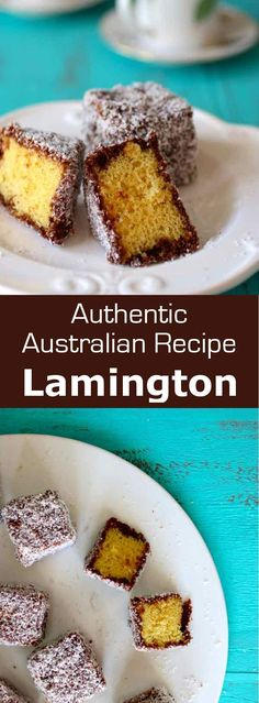Lamington is an Australian dessert consisting of squares of sponge cake coated in a layer of chocolate sauce then in shredded coconut. Australian Desserts, Australian Food, Australian Recipes, Authentic German Schnitzel Recipe, Bakery Recipes, Dessert Recipes, Cake Receipe, New Zealand Food, Aussie Food