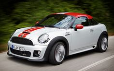 2012 Mini Cooper Coupe - My first car after college hopefully! Cheaper, gas efficient, and ideal for me if I stay in the city.