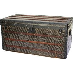 Goyard Courier Trunk with FHG initials