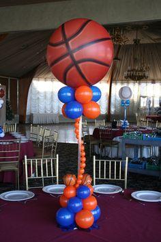 Sports Themed Balloon Centerpieces