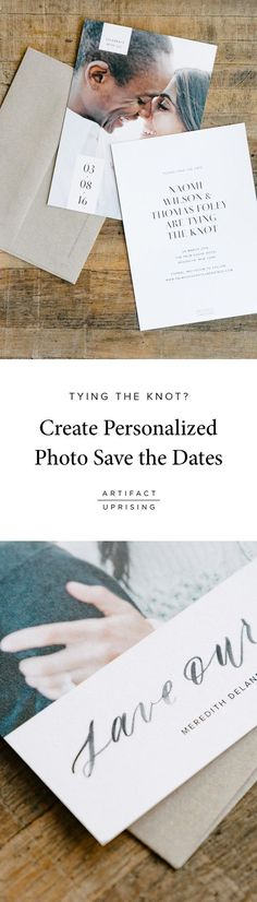 See what's new from @artifactuprsng: Our line of premium quality Save the Dates can be customized on both sides to include a photo and the details of your wedding day. Printed on thick 100% recycled paper.: