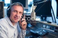 radio station presenter Royalty Free Stock Photo