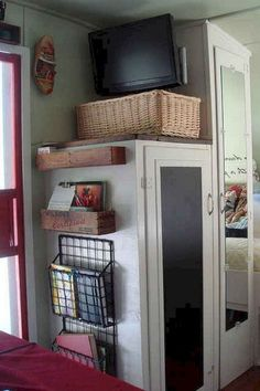 Insanely Awesome Organization Camper Storage Ideas Travel Trailers No 41