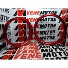 JUEGO DE RINES ALUMINIO DOBLE PESTAÑA EMPIRE TX 200 ROJOS DELANTERO Y TRASERO PRECIO 32.000,00 BS NUESTROS PRECIOS INCLUYEN IVA EMITIMOS FACTURA FISCAL WWW.VENEMOTOS.COM