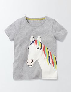 T-Shirt mit großer Applikation 30112 Oberteile & T-Shirts bei Boden