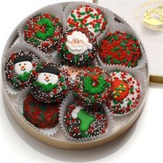 Chocolate Dipped Holiday Oreo Cookies