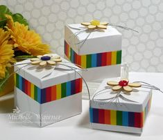Make these cute boxes using the Gift Box Punch Board!