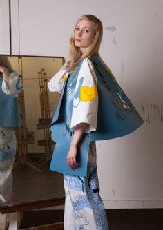 Lauren Smith (Edinburgh College of Art) Uk Fashion, Fashion Prints, Womens Fashion, Fashion Textiles, Fashion Design, Lauren Smith, A Level Textiles, Embroidery Fashion, Happy Colors