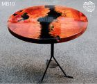 If you wish to have a special wood table, resin wood table may be the choice for you. Resin wood table furniture is the right type of indoor furniture since it has the elegance and provides the very best comfort in the home indoor or outdoor. Wood Resin Table, Resin Patio Furniture, Handmade Furniture, Wood Table, Table Furniture, Home Furniture, Dining Table, Furniture Ideas, Slab Table