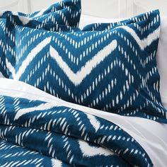 Target : Nate Berkus™ Nepal Chevron Comforter - Blue : Image Zoom