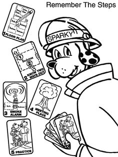 Fire Safety coloring page   Super Coloring   Fire prevention, Fire ...   315x236