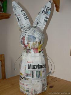 Papier mache Easter Bunny 03