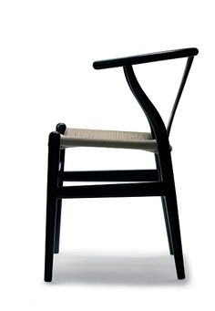 CH 24 Wishbone Chair - Black/Natural Papercord