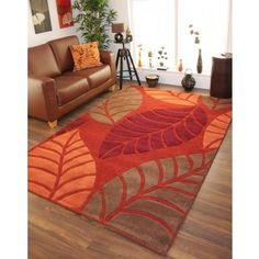 Splinter Burnt Orange Rugs Orange Rugs Rugs Living