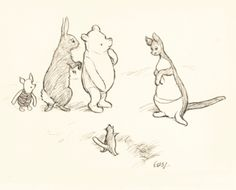 This very sweet illustration by E. H. Shepard sold £61,250 at Sotheby's London in July 2013.