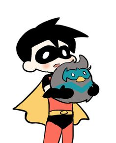 Awww. Look at Timmy's plushie. It's almost bigger than him. :)