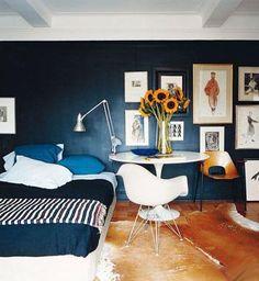 Interior en blanco y negro
