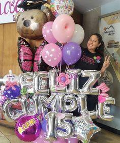 Idea Balloon Display, Balloon Gift, Red Balloon, Balloon Bouquet, Balloons And More, Big Balloons, Birthday Balloons, Diy Party Decorations, Balloon Decorations