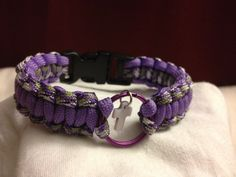Paracord bracelet cobra weave with an added keyring for charms! Done by me!