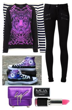 """Untitled"" by urbanfashionstyle ❤ liked on Polyvore featuring H&M, Deetz, Paige Denim, Converse and Giuseppe Zanotti"