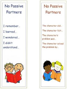 No Passive Partners-Great for Read to Someone/Buddy Reading Reading Resources, Reading Strategies, Reading Activities, Literacy Activities, Reading Comprehension, Reciprocal Reading, Guided Reading, Teaching Reading, Teaching Ideas