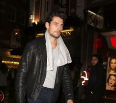 David Gandy arriving at Charlotte Tilbury Makeup -yesterday