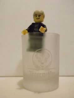 """JAGERMEISTER FROSTED Shot Glass 2-1/4"""" Tall 2CL"""