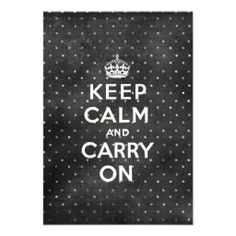 Calm And Carry Black White Polka Dots