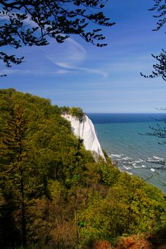 White Cliffs on the Island of Rugen, GERMANY.