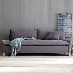 love the Bliss Sofa on westelm.com.   The down filled blend is attractively inviting i like that it is has only one seat   cushion